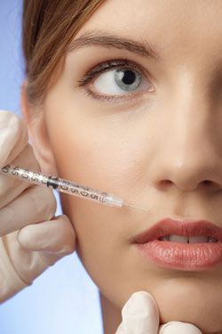 woman during an Facial Injection procedure