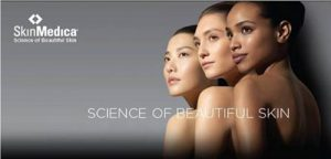 Ad of SkinMedica Science of Beautifull Skin with 3 beautifull women