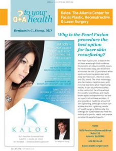 Scan of Atlanta Magazin issue September 2010 with an article featuring Dr. Stong