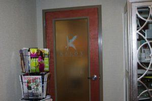 door with kalos logo