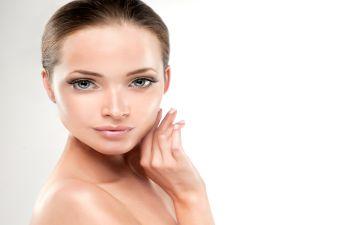 woman with shining skin