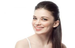 Woman Smiling After Skin Care Treatment Atlanta GA