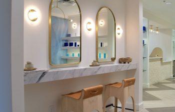 Mirrors in the Kalos Facial Plastic Surgery LLC hallway